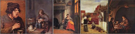 everyday life in 17th century Dutch paintings