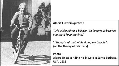 Einstein quotes on cycling